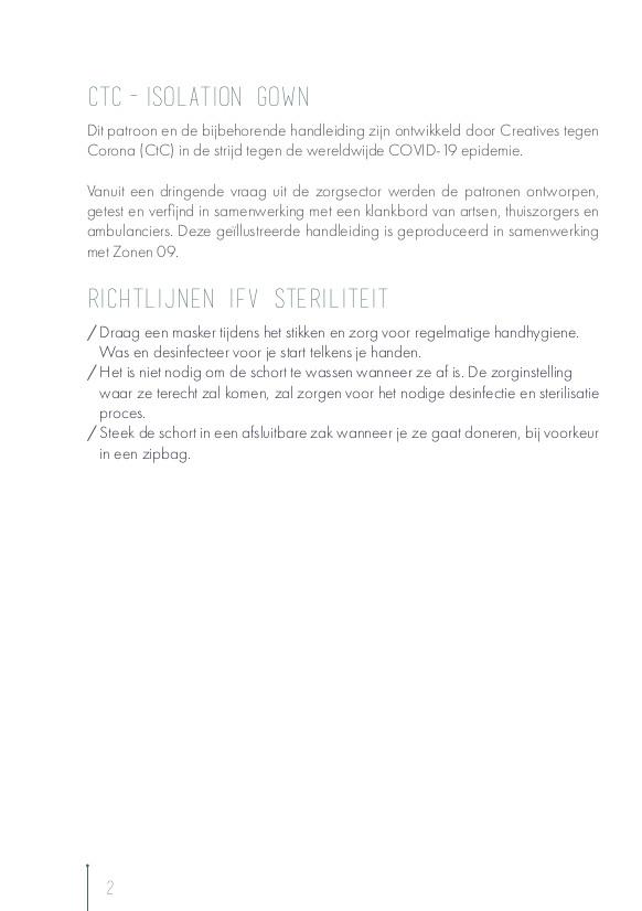 Creatives tegen Corona, Handleiding overschorten patroon, collectie MAS: p.2.