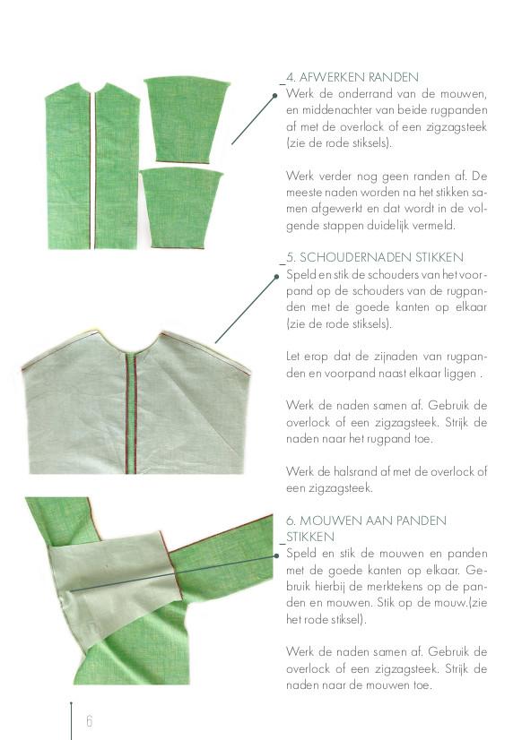 Creatives tegen Corona, Handleiding overschorten patroon, collectie MAS: p.6.
