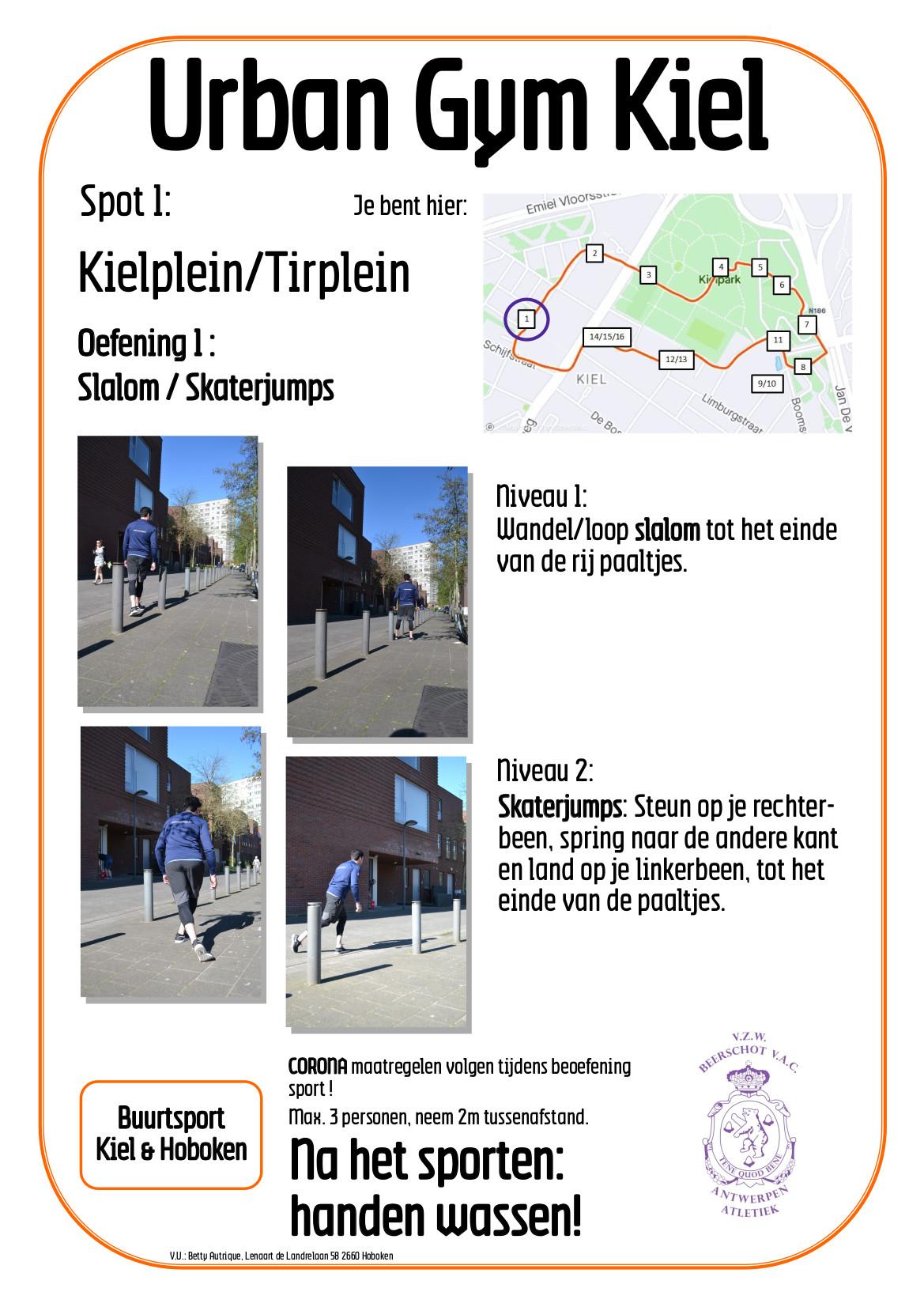 Beerschot Atletiek, Buurtsport Kiel en Hoboken, Urban Gym op het Kiel, spot1.
