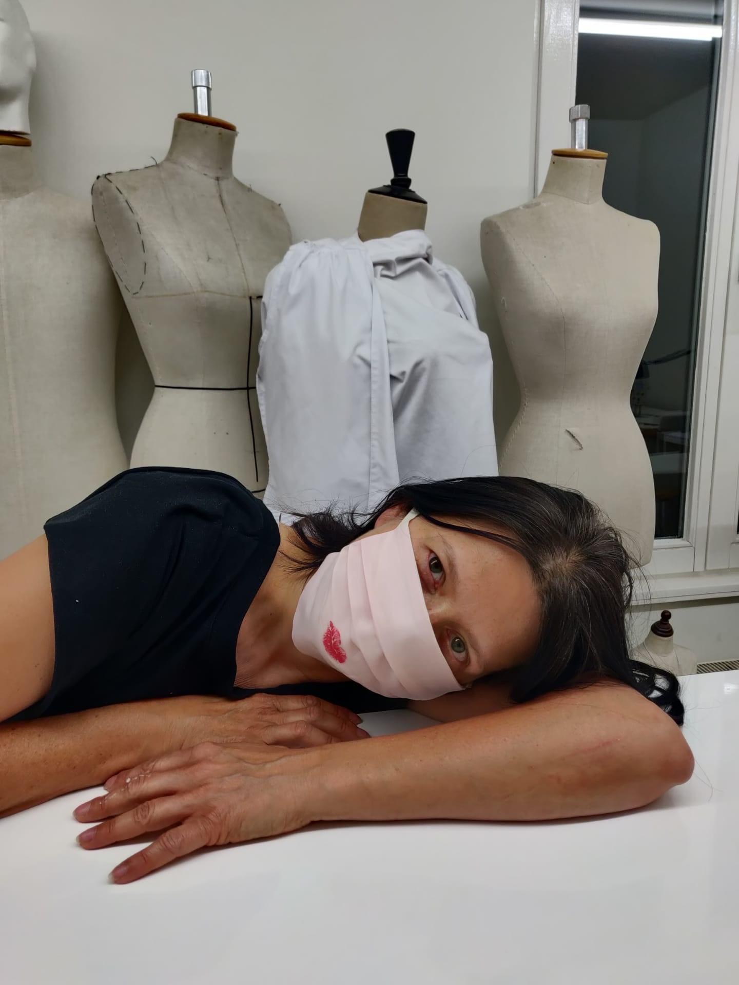 Elke Hoste, Pearl Blush Kiss mondmasker, collectie MAS, inv. nr MAS.0328.004, foto Duurzame Mondmaskers.